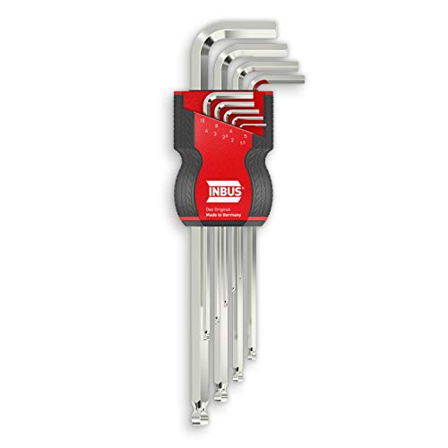 INBUS® 70167 Inbusschlüssel Set 9tlg, 1.5–10mm, mit Kugelkopf — Made in Germany