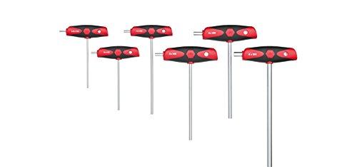 Wiha Stiftschlüssel mit Quergriff Set ComfortGrip Sechskant (26247), 6 teilig, Innensechskant Schlüssel Set kompakt, Sechskantschlüssel Satz, 2.5 - 8 mm