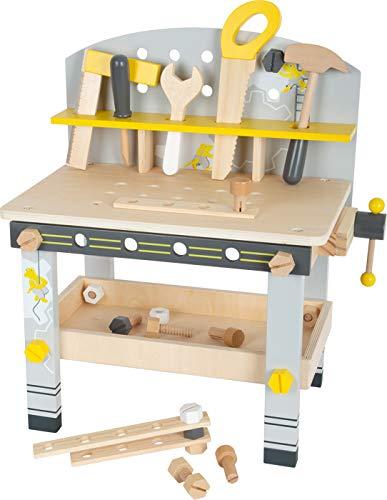 Small Foot 11805 Werkbank Miniwob Kompakt aus Holz, mit umfangreichem Zubehör und Schraub-Set, für Kinder ab 3 Jahren Toys