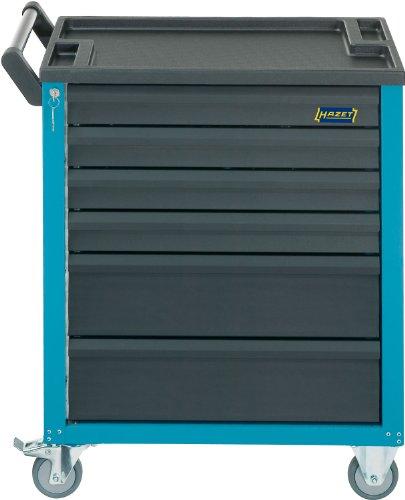 HAZET Werkstattwagen Assistent (4 flache und 2 hohe Schubladen, Traglast pro Schublade 20 kg, Gesamttragkraft (statisch): 300kg) 177-6