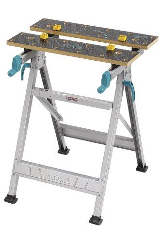 Wolfcraft MASTER 200 Spann- und Arbeitstisch 6177000 - klappbar / Universell einsetzbarer & robuster Werktisch / Ideal für Heim- und Handwerker