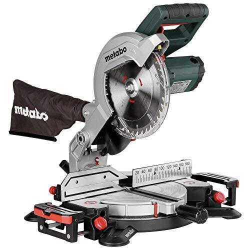 Metabo Kappsäge KS 216 M Lasercut (619216000) Karton, Abmessungen: 475 x 465 x 285 mm, Auflagefläche: 155 x 725 mm, Max. Schnittbreite 90°/45°: 120 / 80 mm