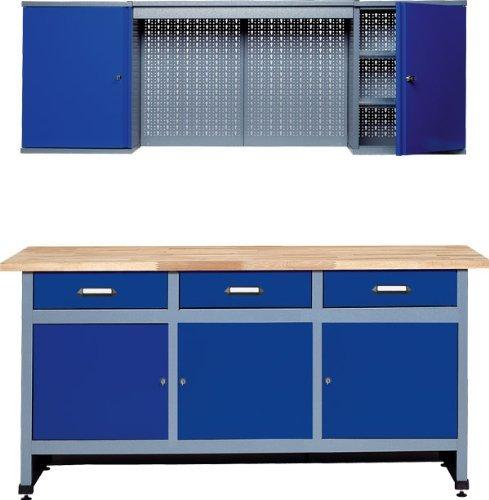 Küpper 70421–7 Werkstattmöbel-Set 170cm, in Deutschland hergestellt, Farbe: ultramarin