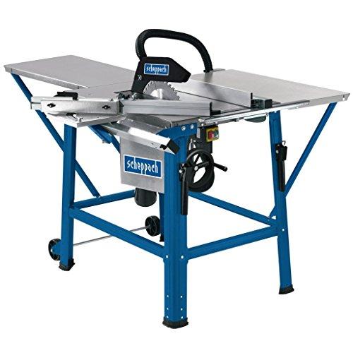 scheppach Tischkreissäge TS310 - 2200 W   Sägeblatt- Ø315mm   Schnitthöhe 83 mm   inkl. Tischverbreiterung, 2. Sägeblatt, Führungsschiene und Schiebeschlitten   schwenkbar bis 45°