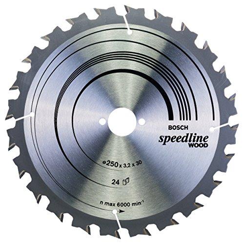 Bosch Professional Kreissägeblatt Speedline Wood zum Sägen in Holz für Tischkreissägen (Ø 250 mm)