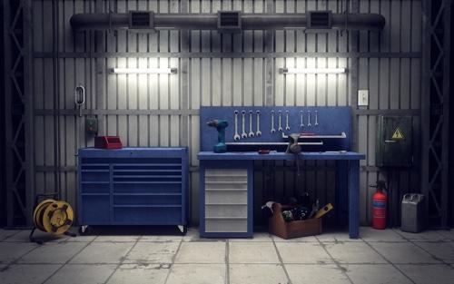 Ausstattung Werkstatt