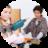 Maedchen und Junge an Kinderwerkbank 70